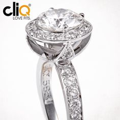 halo engagement ring with pave set diamonds #lovefits #madeinphilly
