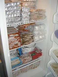 Organized Homemaking: Freezer Cooking Adventure (Pictures) - Click the following for recipies http://organizedhomemaking.blogspot.com/2010/06/recipes-for-freezer-cooking.html
