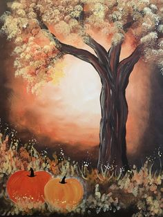 Browse our upcoming painting classes and events at Pleasant Prairie Pinot's Palette! Reserve your seat for the best paint and sip experience today! Fall Canvas Painting, Autumn Painting, Autumn Art, Halloween Painting, Halloween Art, Halloween Stuff, Fall Pictures, Pictures To Paint, Painting & Drawing