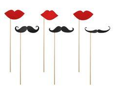 6 accessoires photobooth moustache sur pique - Party So Chic Photos Booth, Photo Booth Props, Moustaches, Recherche Photo, Accessoires Photobooth, Teenage Parties, Stick Photo, Online Party Supplies, Mexican Party