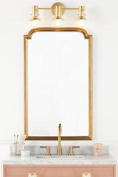 Vintage Bathroom Mirrors, Unique Mirrors, Decorative Mirrors, Gold Vanity Mirror, Wall Mirror, Parisian Bedroom, Powder Room Design, Mirror Shop, Glass Fit