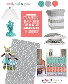 #Coral, #Teal and #Gray: The New #GenderNeutral #nursery