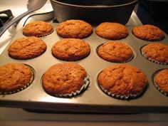 the best pumpkin muffin recipe... I have really made this one and it's awesome.  I used the healthier choices.  I used coconut oil, honey and whole wheat flour.  Still moist and yummy! I also added walnuts.