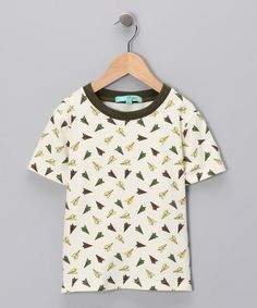 Oatmeal Airplane Bamboo Tee from Skylar Clothing on #zulily