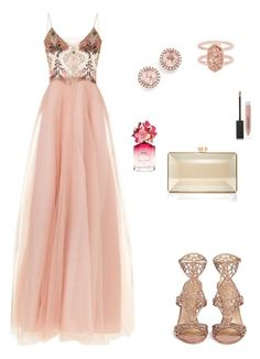"""Goddess vibes"" by allieofficial on Polyvore featuring Patricia Bonaldi, Sergio Rossi, Kendra Scott, Dana Rebecca Designs, Judith Leiber, Marc Jacobs, Burberry, womenfashion, outfitideas and Stylespiration Polyvore Outfits, Polyvore Dress, Pink Dress Outfits, Dress Up, Classy Outfits, Cute Outfits, Wedding Attire, Wedding Dress, Black Prom"