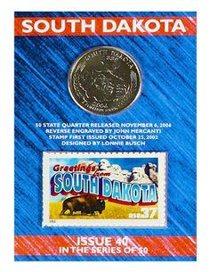 South Dakota State Quarter and Stamp