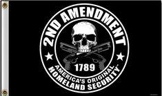 2nd Amendment Flag 3x5 American's Orignal Homeland Security Flag/Wall Poster