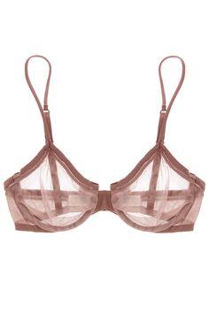nude traslucide bra from LA PERLA