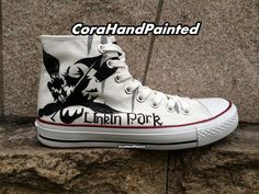 DamenHerren Pokemon Converse Painted Schuhe High Top