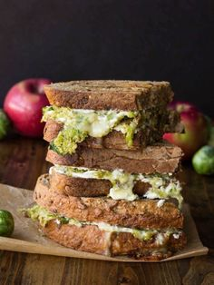 10 Outrageous Grilled Cheese Sandwiches for Lunch (pictured: Brussels Sprouts, Apple and Brie Grilled Cheese )