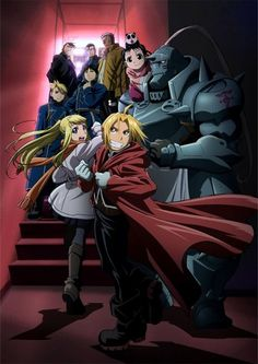 The whole gang from Fullmetal Alchemist. Such a great series.