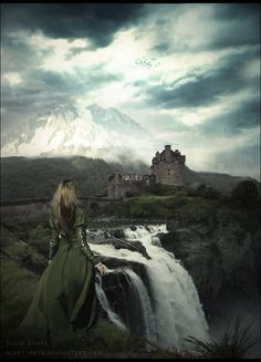Her eyes grazed across the magnificent landscape until they landed on the mountainous castle sitting in the distance.