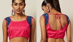 The importance of a well fitted and beautiful patchwork blouse is well known to every woman familiar with sarees. A saree can never look the best unless it is paired with the right blouse. Patch Work Blouse Designs, Blouse Back Neck Designs, New Blouse Designs, Net Saree, Silk Sarees, Princess Cut Blouse, Net Blouses, Floral Patches, Blouse Models