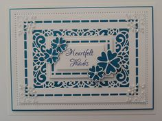 Inky Finger Zone: Heartfelt Thanks Australian Background, Sweetheart Flowers Sue Wilson Dies, Spellbinders Cards, Card Companies, Embossed Cards, Die Cut Cards, Marianne Design, Flower Cards, Diy Cards, Homemade Cards