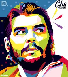 Joker Drawings, Cool Art Drawings, Che Quevara, Portrait Illustration, Graphic Illustration, Caricature, Activist Art, Ernesto Che, Abstract Face Art