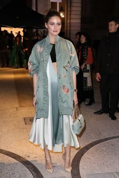 Olivia Palermo attends the Valentino Haute Couture Spring Summer 2018 show as part of Paris Fashion Week on January 24 2018 in Paris France Olivia Palermo Outfit, Estilo Olivia Palermo, Olivia Palermo Lookbook, Olivia Palermo Style, Street Style Looks, Street Style Women, Mode Style, Ideias Fashion, Celebrity Style