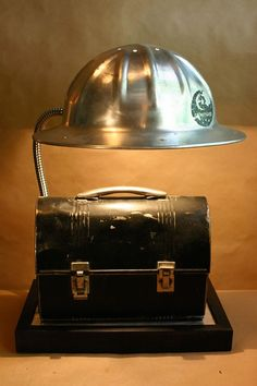 Alum Hard Hat and Lunch Box Lamp- So Cool