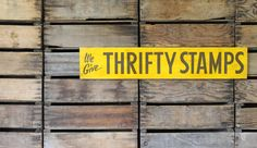 Vintage 1950's Metal Thrifty Stamps Sign $155.00