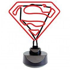 Neonleuchte mit Superman-Logo #design3000 #superman