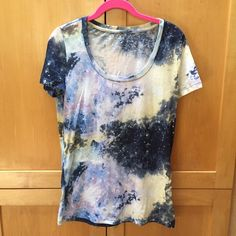 BDG Scoopneck tee in Galaxy print Worn once, essentially brand new. Pretty print, comfy, light tee. BDG brand at Urban Outfitters   ✔️ Please submit your best offer using the blue offer button.  ✔️ Bundle 3+ items, get 20% off  No Trades, PayPal, or Negotiating in the comments. Urban Outfitters Tops
