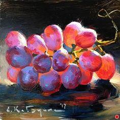 Sonera Seedless by Elena Katsyura Oil ~ 6 in x 6 in #OilPaintingStillLife