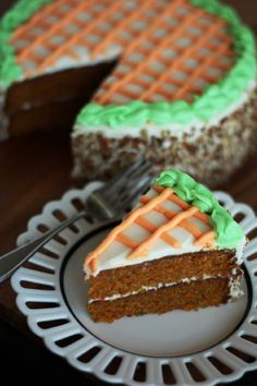 [Best Ever?] Carrot Cake - have to try it out... but i LOVE the decorating on this cake. Cute! Perfect #Easter dessert