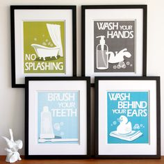 wall art for kids bathroom
