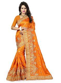 Yellow Silk Fancy Silk Saree