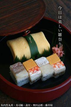 朱内黒丸重・寿司桶 Sushi Love, Sushi Set, Sashimi Sushi, Food Staples, Rice Vinegar, Japanese Food, Asian Recipes, Feta, Food Japan