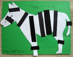 Put stripes on the zebra -can use paper or (more fun) licorice