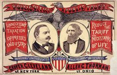 """Public office is a public trust."" Grover Cleveland of New York for President / Allen G. Thurman of Ohio for Vice President, campaign poster, 1888. From the Library of Congress"