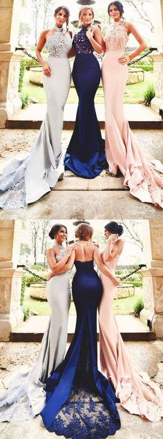 mermaid bridesmaid dresses,lace bridesmaid dresses,open back bridesmaid dresses,elegant wedding party dresses