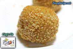 Buchi or Butsi de Leche (Red bean sesame seed balls) http://www.pinoyrecipe.net/buchi-or-butsi-de-leche-red-bean-sesame-seed-balls/