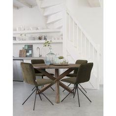 d-Bodhi Fendy Tafel Round - Ø130 x H78 cm - Teakhout #meubels #rond #designonline24 #teak
