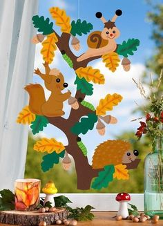 Fall Arts And Crafts, Autumn Crafts, Fall Crafts For Kids, Autumn Art, Diy For Kids, Diy And Crafts, Paper Crafts, Fall Classroom Decorations, School Decorations