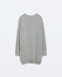 ZARA - NEW THIS WEEK - LONG SWEATER WITH SIDE SLITS