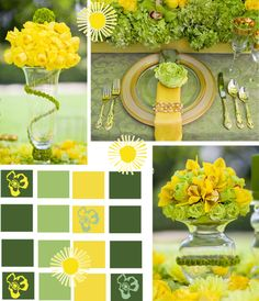 Wedding Ideas - Yellow and Green