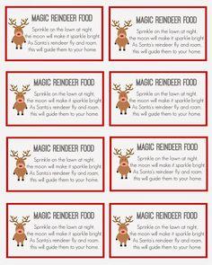 7 Best Images of Reindeer Food Printable Labels - Printable Magic Reindeer Food Labels, Reindeer Food Poem Printable and Magic Reindeer Food Printable Preschool Christmas, Christmas Crafts For Kids, Christmas Activities, Xmas Crafts, Christmas Projects, Holiday Fun, Christmas Holidays, Kid Crafts, Christmas Eve Box Ideas Kids