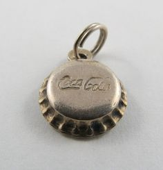 Coca Cola Bottle Cap Sterling Silver Charm For Bracelet