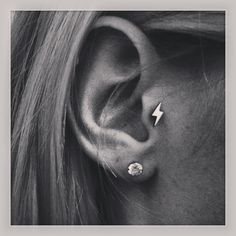 Lightening bolt tragus earring! Yes please!