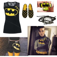 batman by jamkelly on Polyvore featuring polyvore fashion style