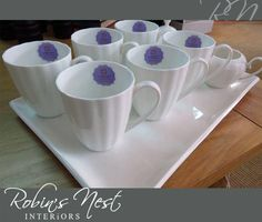 We just love this cup set, perfect for when having guests over or spending with the girls. Interior Photo, Design Interiors, Cupping Set, Robin, Nest, Cashmere, Mugs, Tableware, Girls
