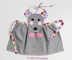 Tablier souris originale & unique pour enfant de 3 à 6 ans