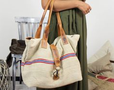 Historical BAG Handmade old sac 1932 & Leather Shopping bag\tote