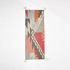 """Sivas Wool Kilim Rug, Macaroon Pink, 3'w x 5'l. 5'w x 8'l. 8'w x 10'l. 9'w x 12'l. 2.5'w x 7'l. (Runner) Rug thickness: .25"""""""
