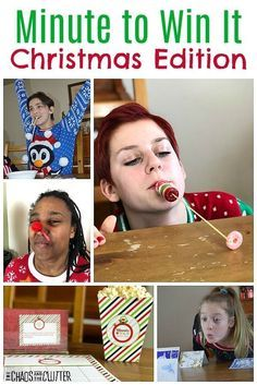 For your Christmas gatherings, these Minute to Win It Christmas games work for all ages and group sizes. Start a new holiday tradition! party Minute to Win It Games Christmas Edition Minute To Win It Games Christmas, Fun Christmas Party Games, Xmas Games, Christmas Games For Family, Holiday Games, Christmas Holidays, Holiday Fun, Holiday Parties, Christmas Cookies