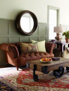 (BrandonRugs.com) The hand-knotted Persian Heriz design rug is a beautiful reflection on the owners of this home.