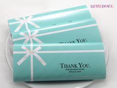 Tiffany Blue party personalised chocolates
