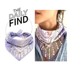 """""""The Daily Find: Dannijo Studded Bandana"""" by polyvore-editorial ❤ liked on Polyvore featuring DANNIJO and DailyFind"""