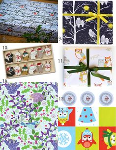 Owl Gift Wrapping Products